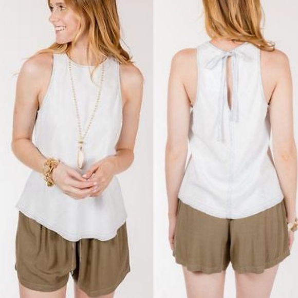 ee4a02ccc cloth & stone Tops | Cloth And Stone Sleeveless Chambray Top E26 ...